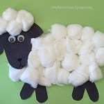 How To Make Simple Cotton Balls Sheep Craft