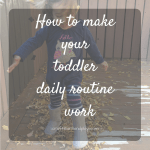 How to make your toddler daily routine work