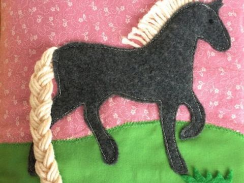 Horse quiet book pattern & tutorial