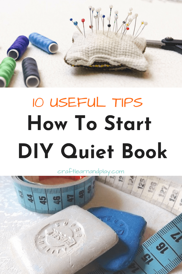 Incredible helpful tips and trick you wanna know if you are making a quiet book. Click to read tips. #DIY #quietbook #activitybook #tips #sewing #tricks #quietbooktools #materials #DIYquietbook