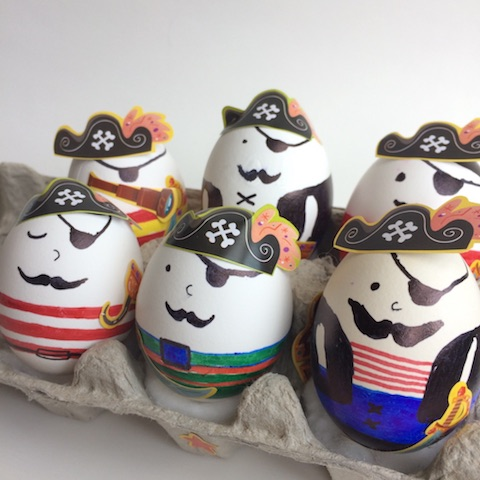 Easter egg pirates for kids - Easter crafts for kids that was a BIG hit at our house. Easy and simple. Try it out.