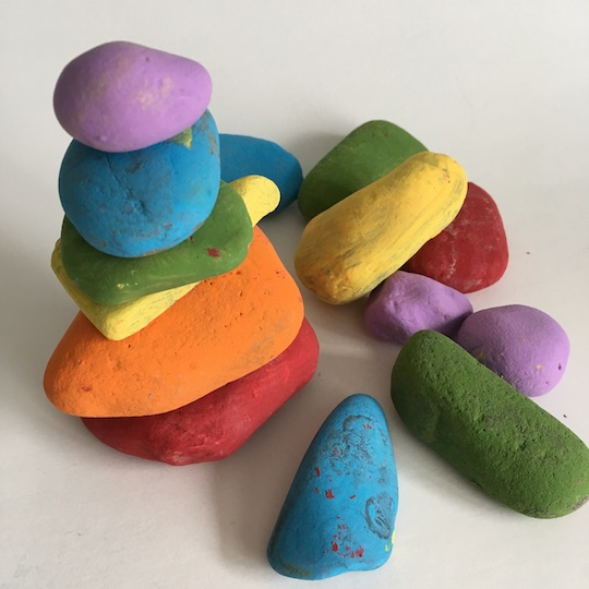 easy rock painting ideas stacking toy