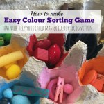 How to make simple Egg Carton Colour Sorting Game