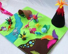Dinosaur world playmat