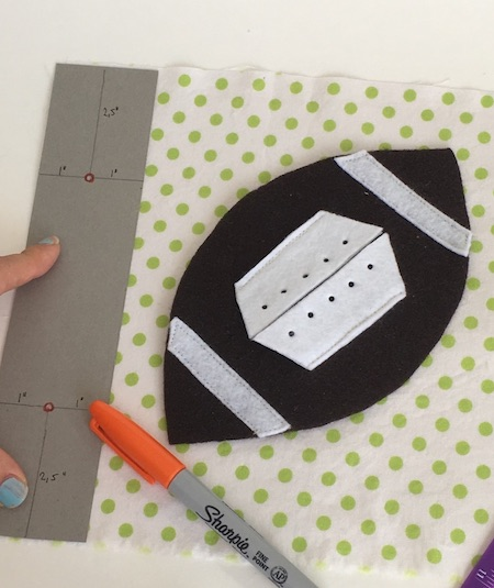 marking binder holes for rings with cardboard template. Click to see instructions and download free template.