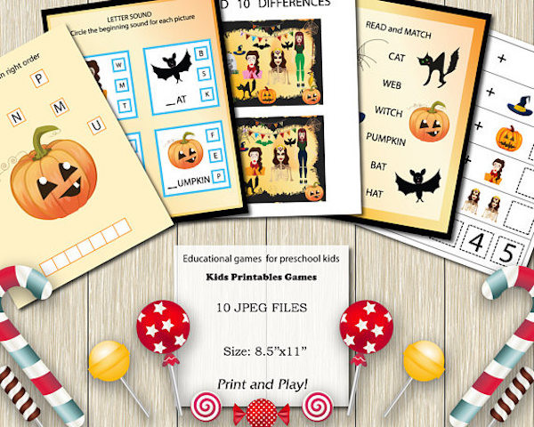 peschool halloween printables