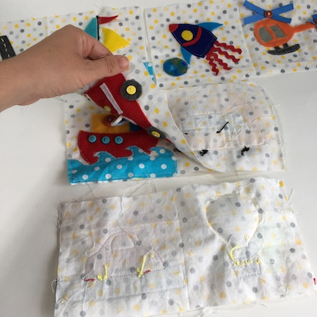 quiet book fabric pages