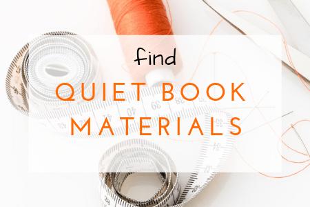 quiet book materials