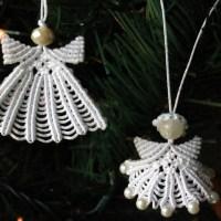 Μακραμε αγγελακια για το χριστουγεννιατικο δεντρο