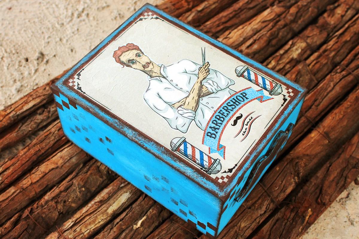 Κουτι για ξυριστικα, με decoupage