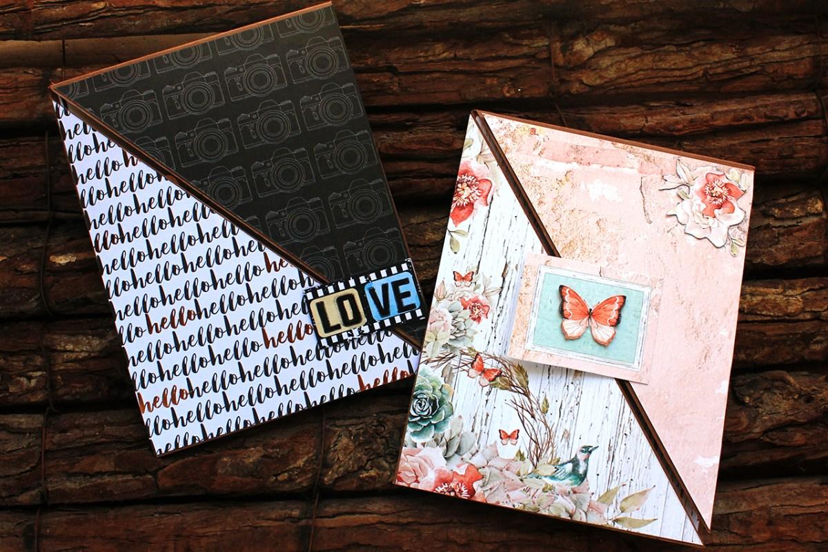 Καρτες με διπλο τριγωνικο ανοιγμα