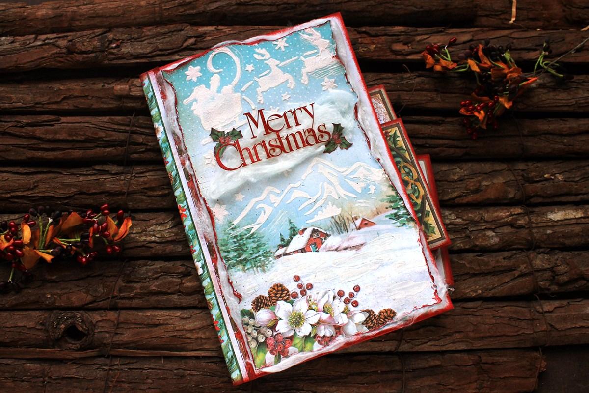"""Χριστουγεννιατικο αλμπουμ scrapbooking """"Merry Christmas"""""""