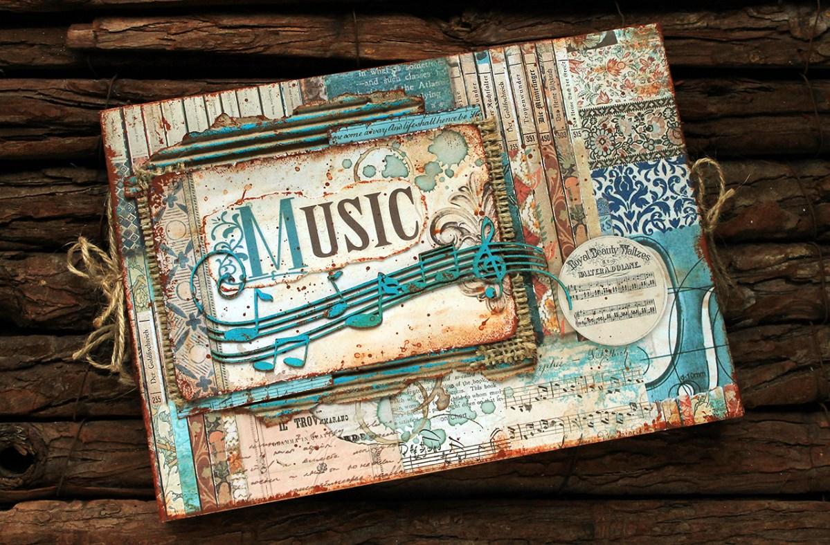 "Album scrapbooking accordion style ""Music"""