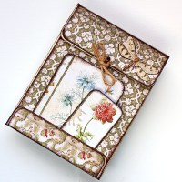 "Mini scrapbooking album ή κάρτα ""Botanical"""