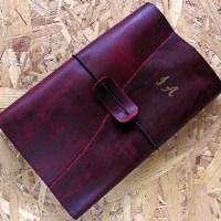 Leather recipes journal/ Δερμάτινο σημειωματάριο για συνταγές