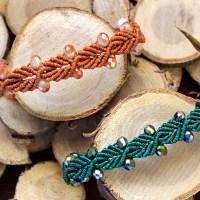 Elegant Leaf Macramé Bracelet/ Μακραμέ βραχιόλι φυλλαράκι