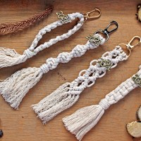 Macrame cotton good luck charms/Γούρια με βαμβακερό νήμα