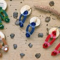 """Macrame earrings """"Betty""""/Μακραμέ σκουλαρίκια """"Betty"""""""
