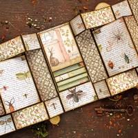 """Scrapbooking tri-fold shutter album """"Spring Botanic"""""""