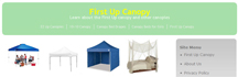 Vendor Tents Supplier First Up Canopy Website Logo