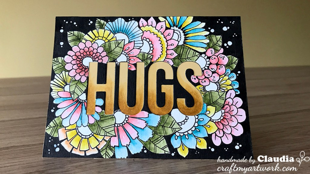 Card_hand_drawn_doodle_flowers_watercolor_black_background