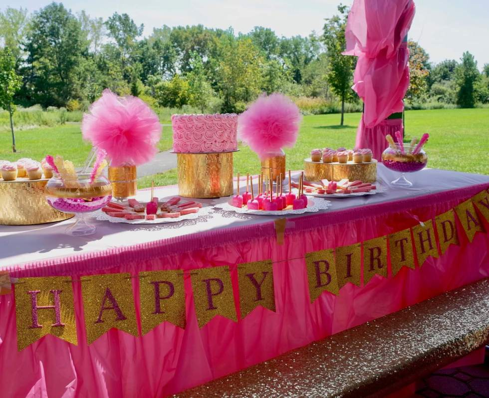 Pink And Gold Princess Birthday Party Craft My World