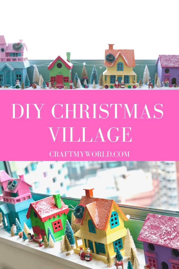 Christmas Birdhouses Crafts.Diy Christmas Village Winter Village Craft My World