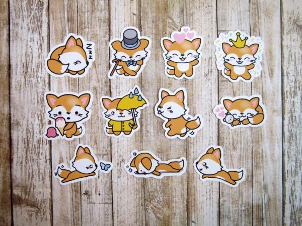 Freddy Fox sleeps stickers