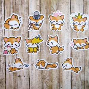 Freddy Fox sleeps stickers