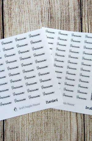 Vacuum Script Stickers