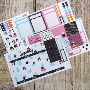 January Monthly Sticker Set, CLASSIC HAPPY PLANNER