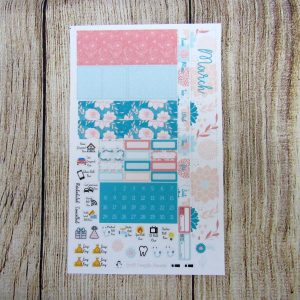 Dahlia Monthly Sticker Set- Choose your month, PP WEEKS