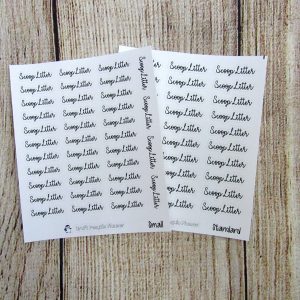 Scoop Litter Script Stickers