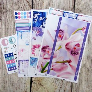 Orchids Monthly Sticker Set, Customizable, ERIN CONDREN