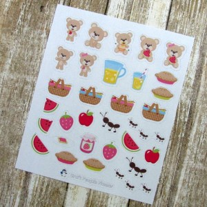 Bear Picnic Deco stickers