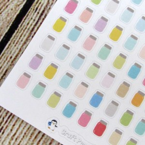 Tiny Mason Jar Stickers
