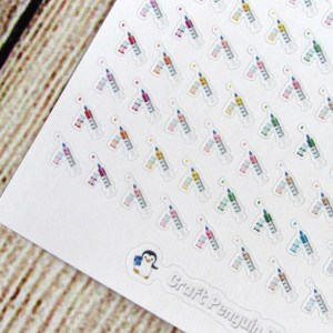 Tiny injection stickers