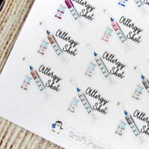 Allergy Shot Stickers