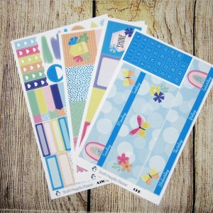 After the Rain Monthly Sticker Set, Customizable, CLASSIC HAPPY PLANNER