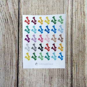 Dumbell stickers