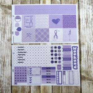 Domestic Violence Awareness Weekly, MINI HAPPY PLANNER