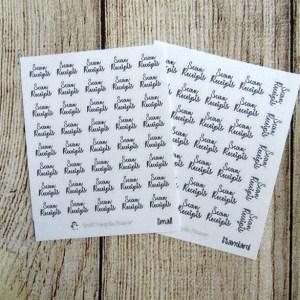 Scan Receipts Script Stickers