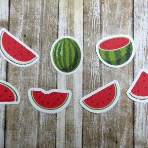 Watermelon die cuts