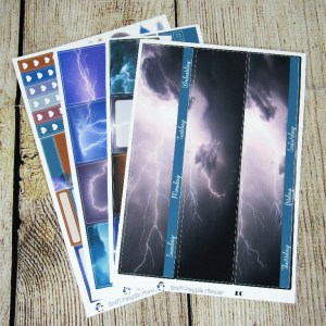 Thunder & Lightning Monthly Sticker Set, Customizable, ERIN CONDREN