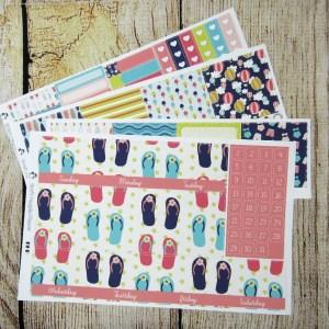 Summer Fun Monthly Sticker Set, Customizable, BIG HAPPY PLANNER