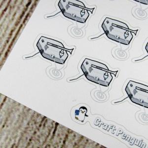 Nebulizer hand drawn sticker