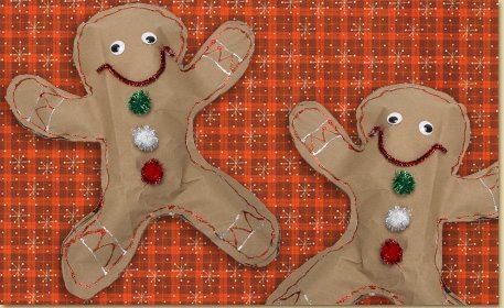 Stuffed Gingerbread Man Craft Project Ideas