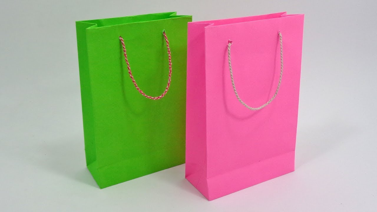 3 Designs of Cute Crafts Using Paper Bags Paper Bag Making At Home How To Make Shopping Bag With Paper