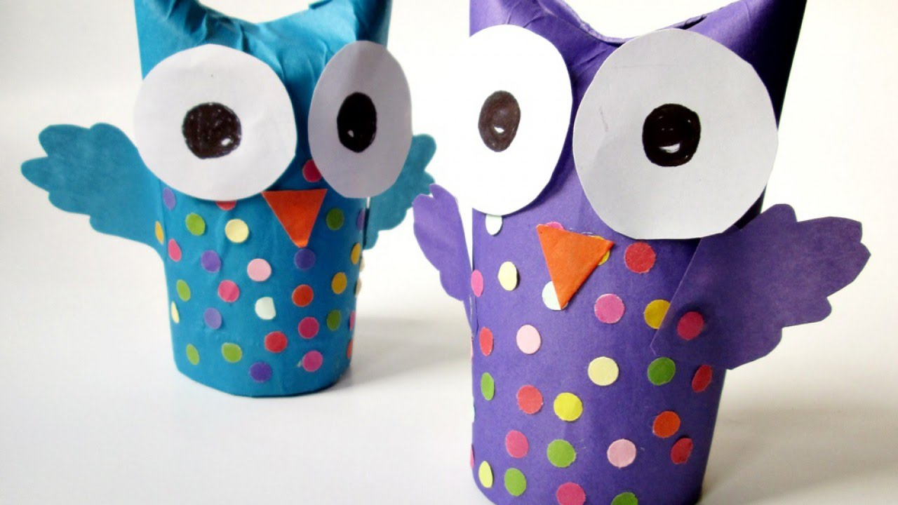 3 Easy Designs of Crafts Out Otissue Paper How To Make A Wonderful Recycled Tissue Paper Roll Owl Diy Crafts