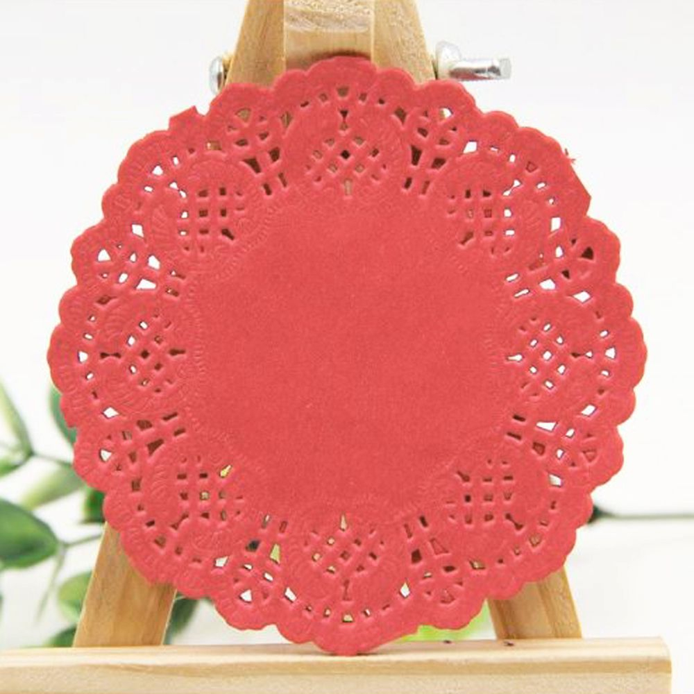 3 Pretty Designs of Craft Paper Doilies 100 Pcs Paper Doily Paper Cake Box Liner For Wedding Tableware